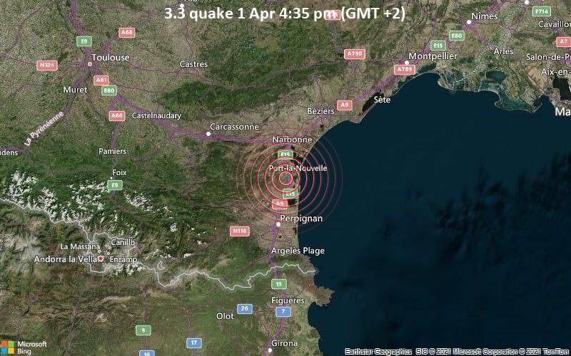 3.3 quake 1 Apr 4:35 pm (GMT +2)
