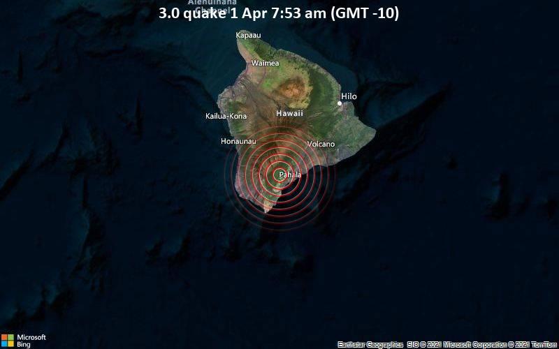3.0 quake 1 Apr 7:53 am (GMT -10)