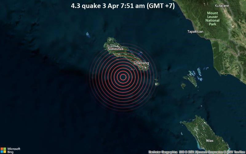 4.3 quake 3 Apr 7:51 am (GMT +7)