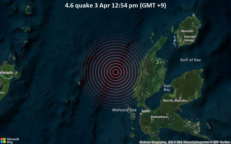 4.6 quake 3 Apr 12:54 pm (GMT +9)