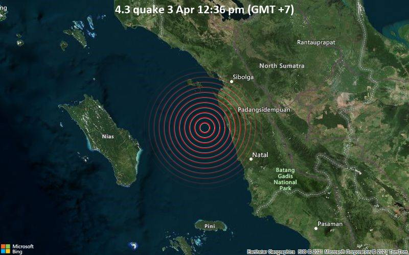 4.3 quake 3 Apr 12:36 pm (GMT +7)
