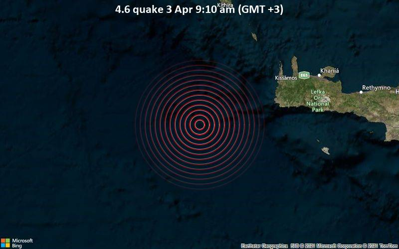 4.6 quake 3 Apr 9:10 am (GMT +3)