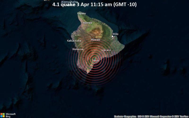 4.1 quake 3 Apr 11:15 am (GMT -10)