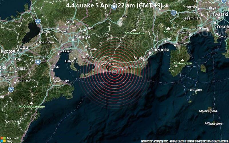 4.4 quake 5 Apr 6:22 am (GMT +9)
