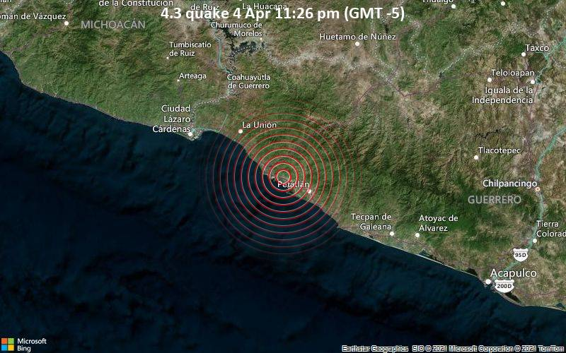 4.3 quake 4 Apr 11:26 pm (GMT -5)
