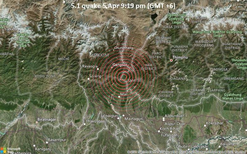 5.1 quake 5 Apr 9:19 pm (GMT +6)