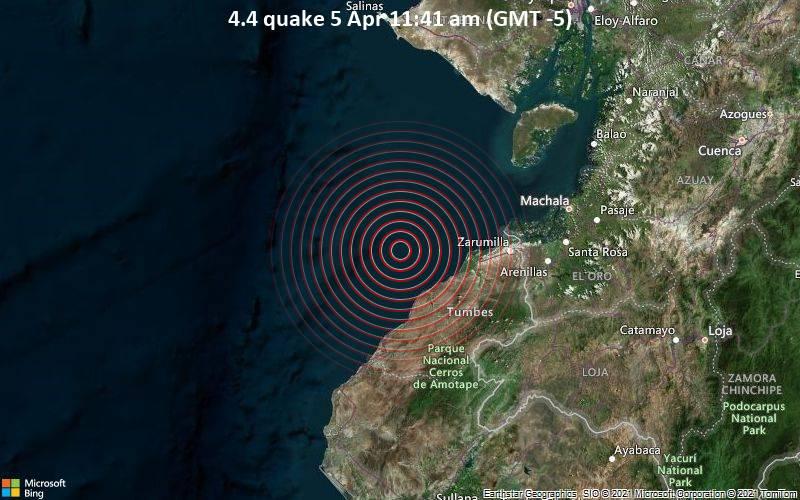 4.4 quake 5 Apr 11:41 am (GMT -5)
