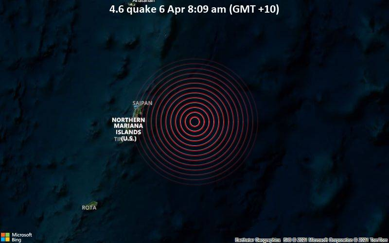 4.6 quake 6 Apr 8:09 am (GMT +10)