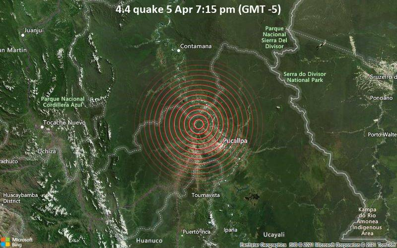 4.4 Terremoto del 5 de abril a las 7:15 pm (GMT -5)