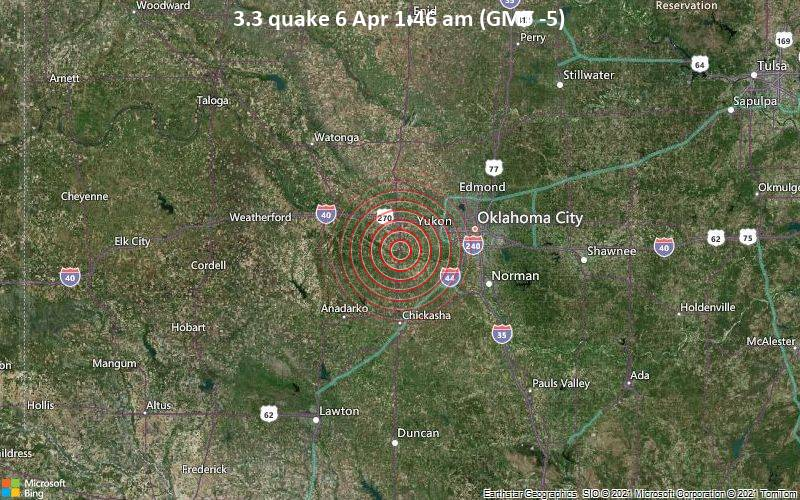 3.3 Terremoto 6 de abril 1:46 AM (GMT -5)