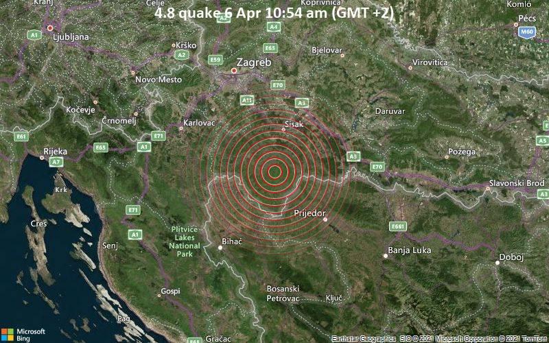 4.8 Terremoto 6 de abril 10:54 a.m. (GMT +2)