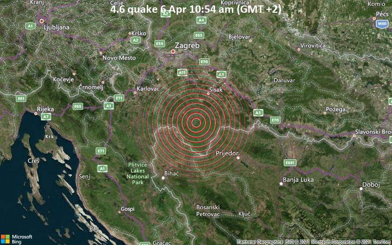 4.6 Terremoto 6 de abril 10:54 a.m. (GMT +2)