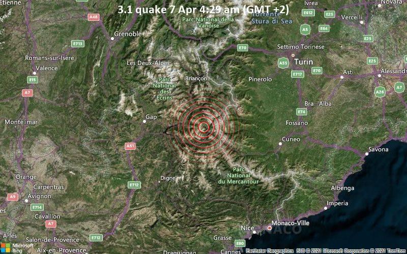 3.1 quake 7 Apr 4:29 am (GMT +2)