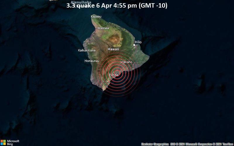 3.3 quake 6 Apr 4:55 pm (GMT -10)