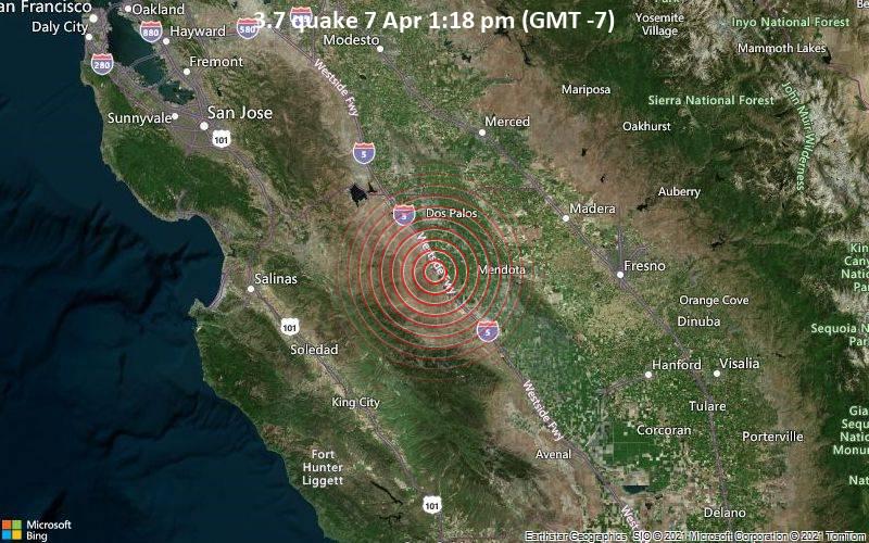 3.7 quake 7 Apr 1:18 pm (GMT -7)