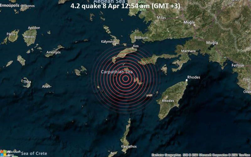 4.2 quake 8 Apr 12:54 am (GMT +3)