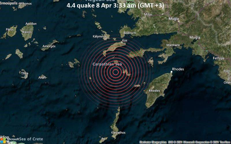 4.4 quake 8 Apr 3:33 am (GMT +3)