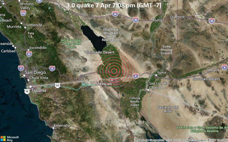 3.0 quake 7 Apr 7:08 pm (GMT -7)