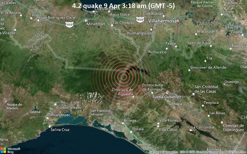 4.2 quake 9 Apr 3:18 am (GMT -5)