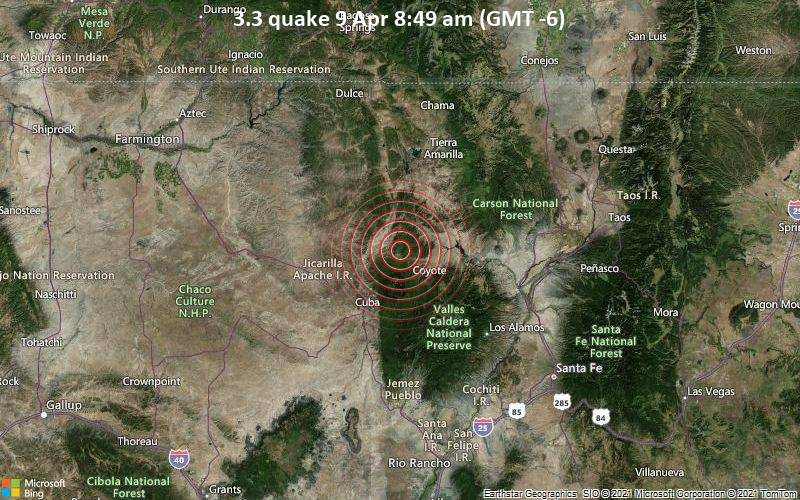 3.3 quake 9 Apr 8:49 am (GMT -6)