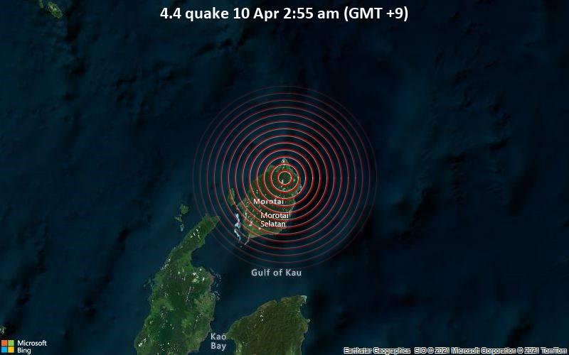 4.4 quake 10 Apr 2:55 am (GMT +9)