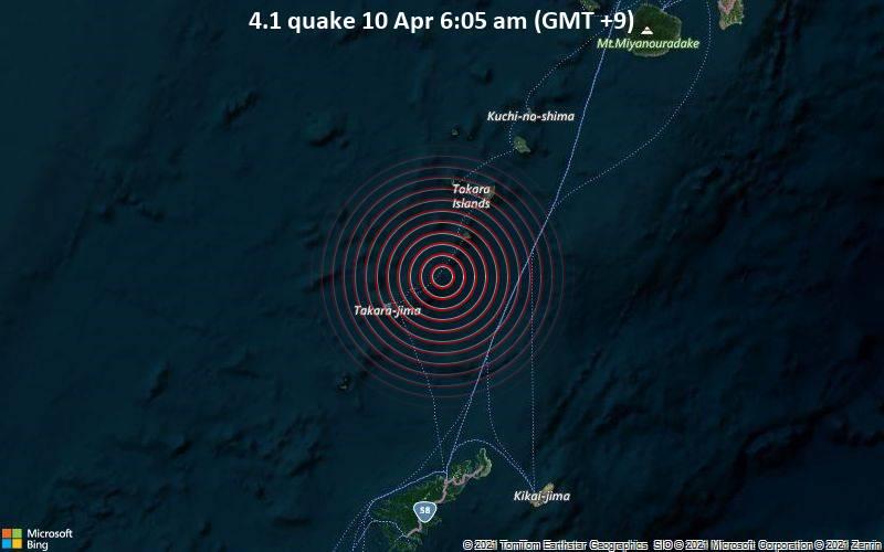 4.1 quake 10 Apr 6:05 am (GMT +9)