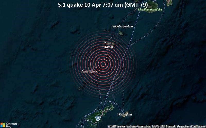 5.1 quake 10 Apr 7:07 am (GMT +9)