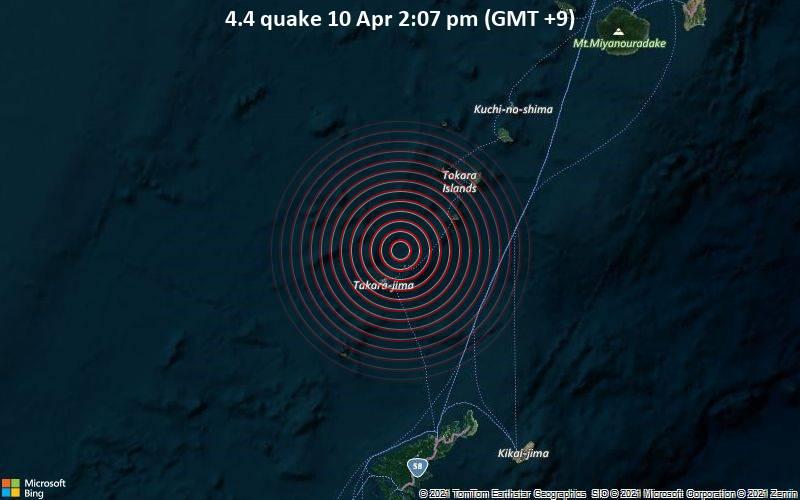 4.4 quake 10 Apr 2:07 pm (GMT +9)