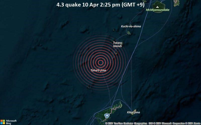 4.3 quake 10 Apr 2:25 pm (GMT +9)