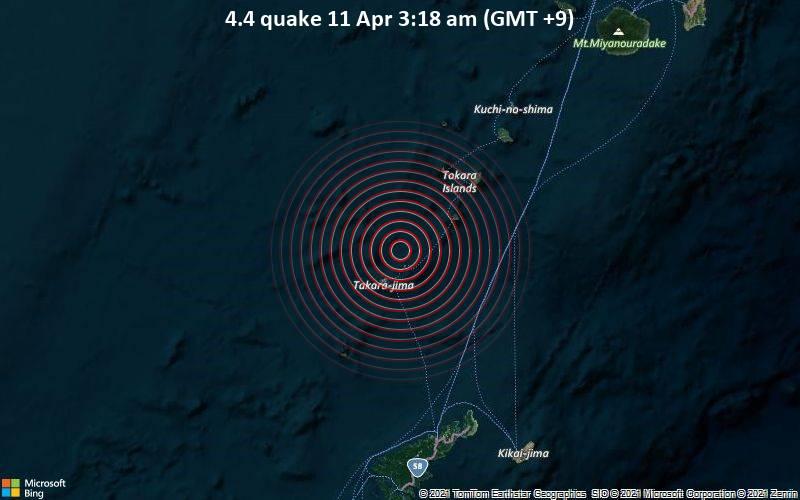 4.4 quake 11 Apr 3:18 am (GMT +9)