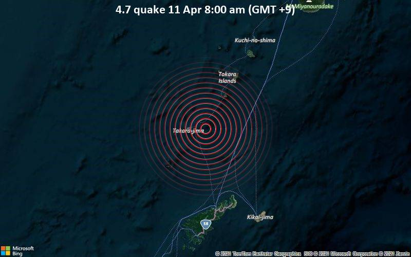 4.7 quake 11 Apr 8:00 am (GMT +9)