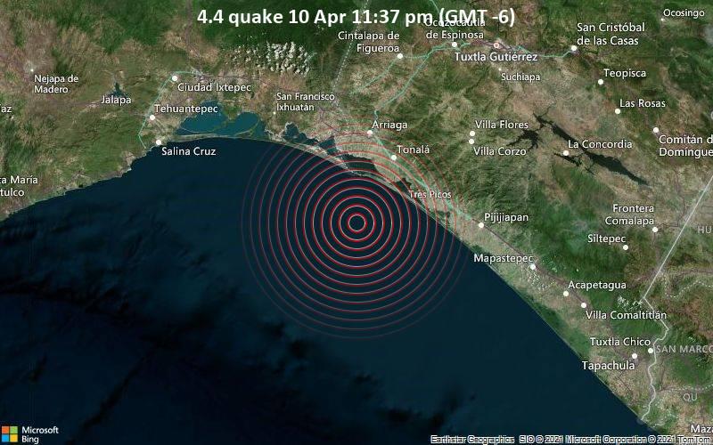 4.4 quake 10 Apr 11:37 pm (GMT -6)