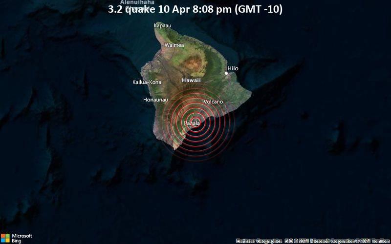 3.2 quake 10 Apr 8:08 pm (GMT -10)