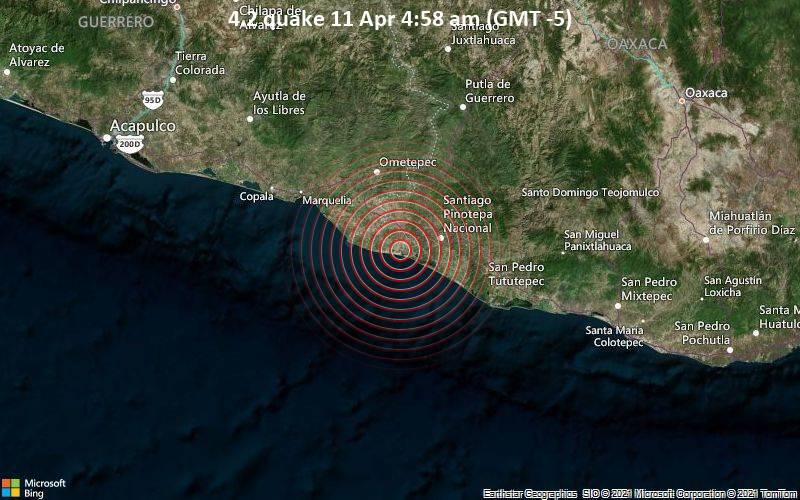 4.2 quake 11 Apr 4:58 am (GMT -5)