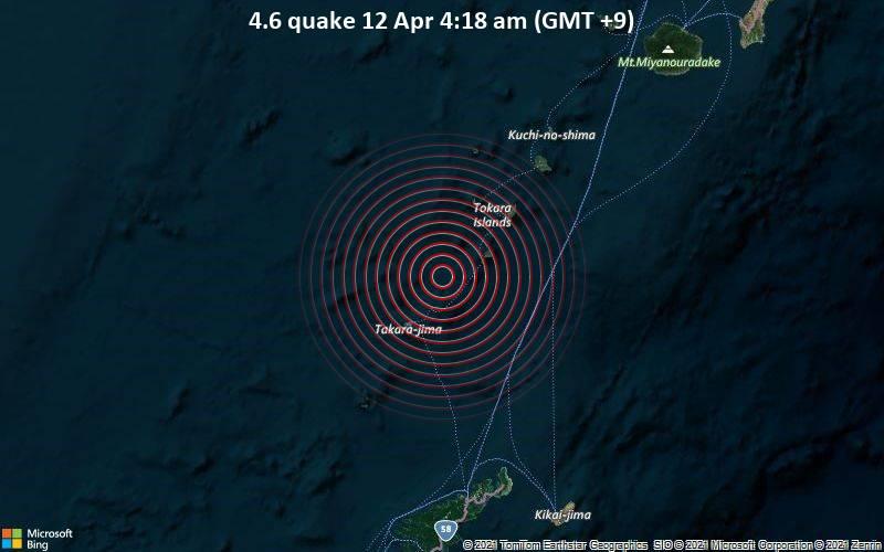 4.6 quake 12 Apr 4:18 am (GMT +9)