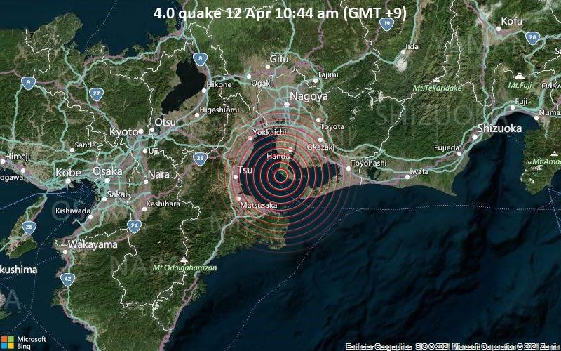 4.0 quake 12 Apr 10:44 am (GMT +9)