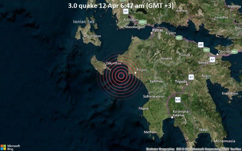 3.0 quake 12 Apr 6:47 am (GMT +3)