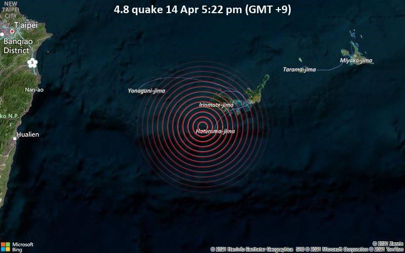 4.8 quake 14 Apr 5:22 pm (GMT +9)