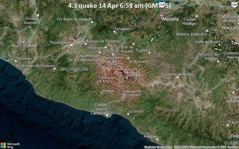 4.3 quake 14 Apr 6:59 am (GMT -5)
