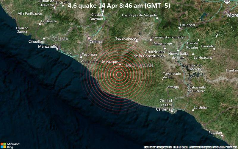 4.6 quake 14 Apr 8:46 am (GMT -5)
