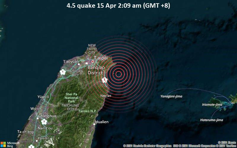 4.5 quake 15 Apr 2:09 am (GMT +8)