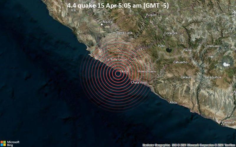 4.4 quake 15 Apr 5:05 am (GMT -5)