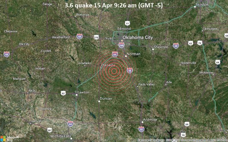 3.6地震4月15日午前9:26(GMT -5)