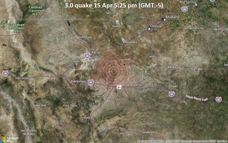3.0 quake 15 Apr 5:25 pm (GMT -5)