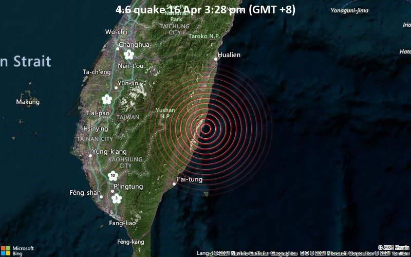 4.6 quake 16 Apr 3:28 pm (GMT +8)