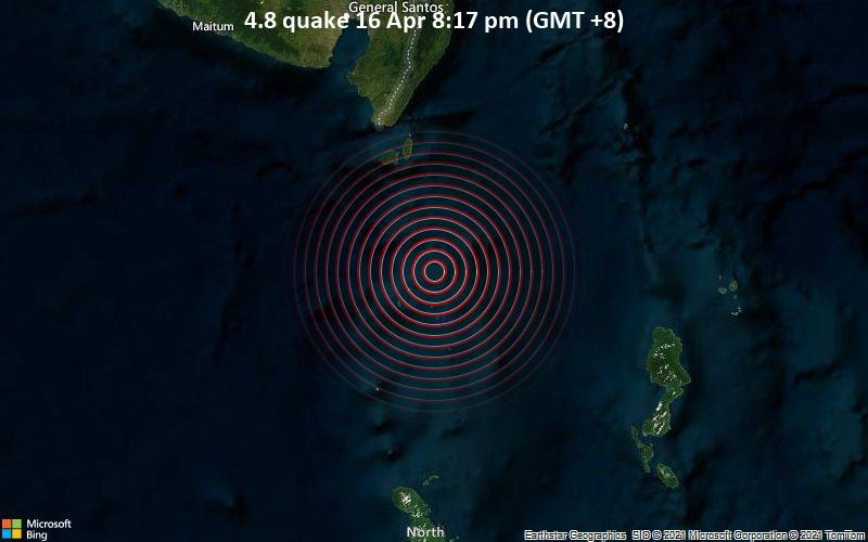 4.8 quake 16 Apr 8:17 pm (GMT +8)