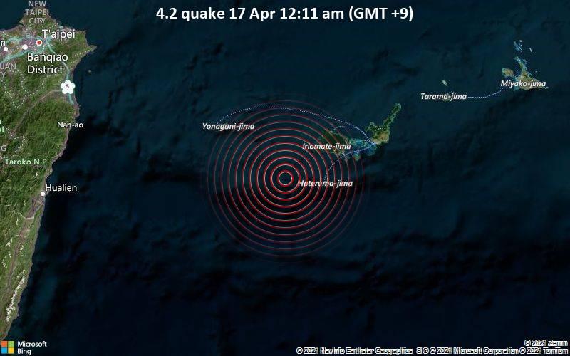 4.2 quake 17 Apr 12:11 am (GMT +9)