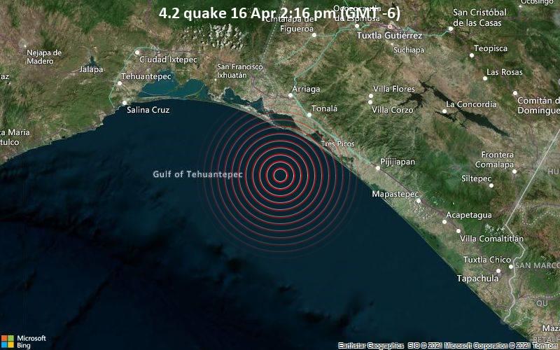 4.2 quake 16 Apr 2:16 pm (GMT -6)