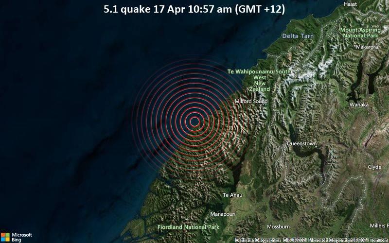 5.1 quake 17 Apr 10:57 am (GMT +12)