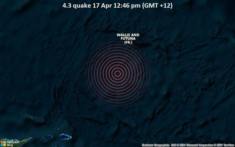 4.3 Gempa bumi 17 Apr 12:46 sore (GMT +12)